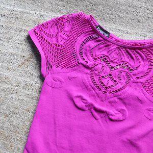 bebe ∙ mesh short sleeve bodysuit